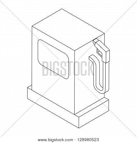 Gas station icon in isometric 3d style isolated on white background. Gas pump