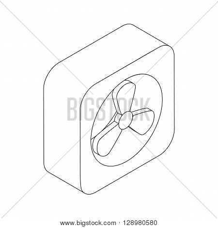Exhaust fan icon in isometric 3d style isolated on white background