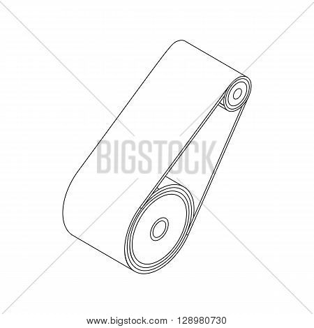 Timing belt icon in isometric 3d style isolated on white background