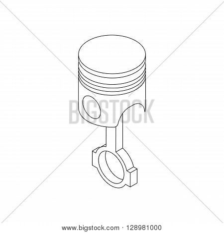 Piston and connecting rod assembly icon in isometric 3d style isolated on white background