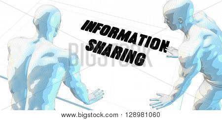 Information Sharing Discussion and Business Meeting Concept Art 3D Illustration Render