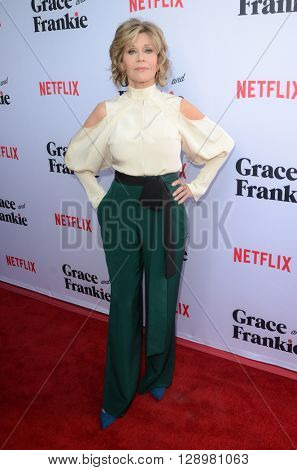 LOS ANGELES - MAY 1:  Jane Fonda at the Grace & Frankie Season 2 Premiere Screening at the Harmony Gold on May 1, 2016 in Los Angeles, CA