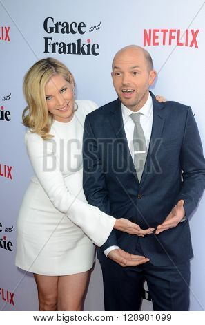 LOS ANGELES - MAY 1:  June Diane Raphael, Paul Scheer at the Grace & Frankie Season 2 Premiere Screening at the Harmony Gold on May 1, 2016 in Los Angeles, CA