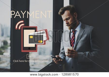 Payment NFC Near Field Communication Mobile Wallet Online Concept