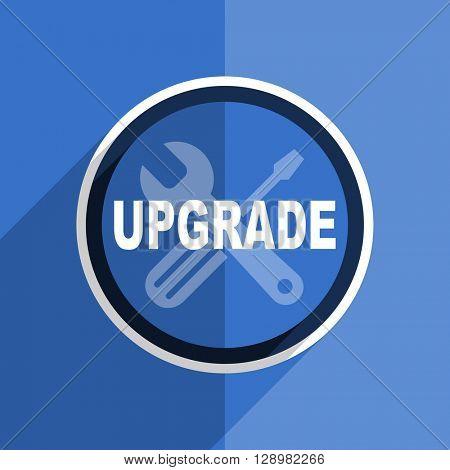 flat design blue upgrade web modern icon