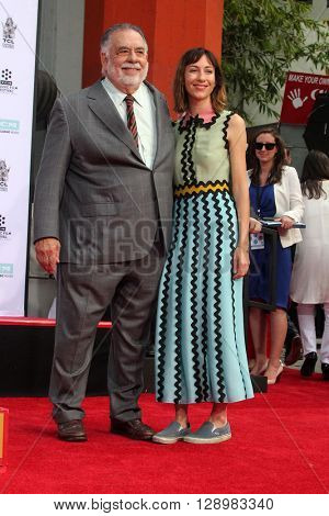 LOS ANGELES - APR 29:  Francis Ford Coppola, Gia Coppola at the Francis Ford Coppola Hand and Foot Print Ceremony at the TCL Chinese Theater IMAX on April 29, 2016 in Los Angeles, CA