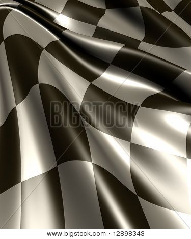Checker racing flag