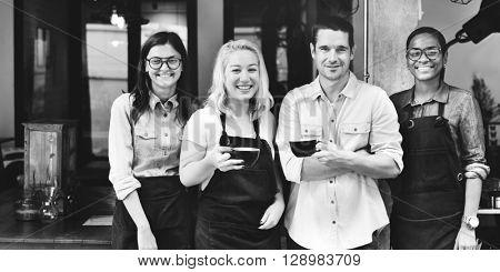 Friends Partnership Barista Coffee Shop Concept