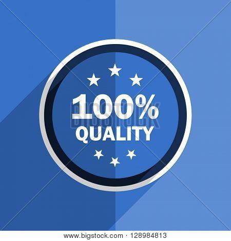 flat design blue quality web modern icon