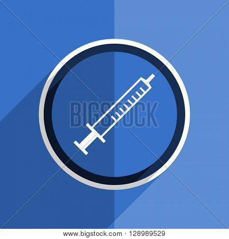 flat design blue medicine web modern icon