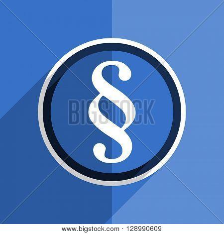 flat design blue paragraph web modern icon