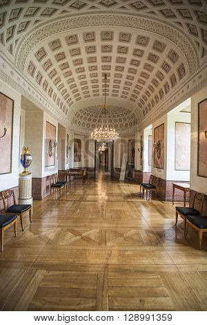 WEIMAR, GERMANY - APRIL 17, 2014: decorated antechamber in the Stadtschloss (city castle) of Weimar, Thuringia, Germany