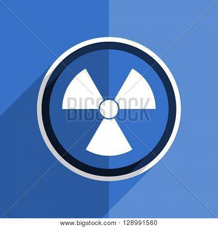 flat design blue radiation web modern icon