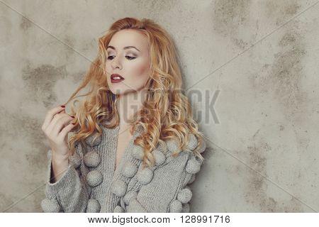Gorgeous woman in bizarre dress