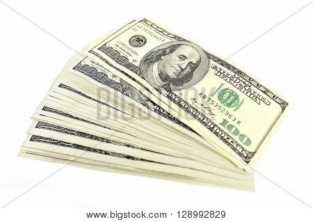 bundle of notes on one hundred dollars