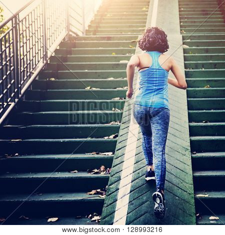Sportwomen Athlete Exercise Healthy Lifestyle Park Concept