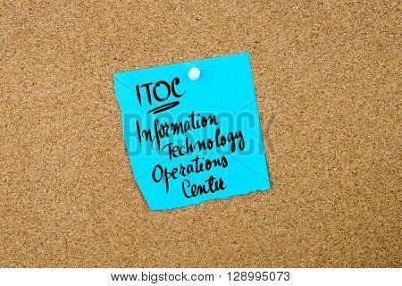 Business Acronym Itoc Information Technology Operations Center