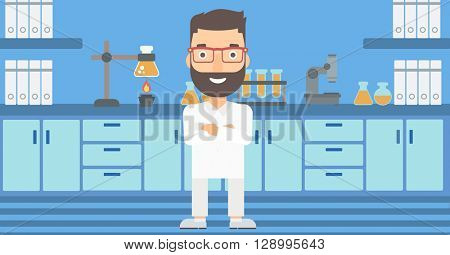 Male laboratory assistant.
