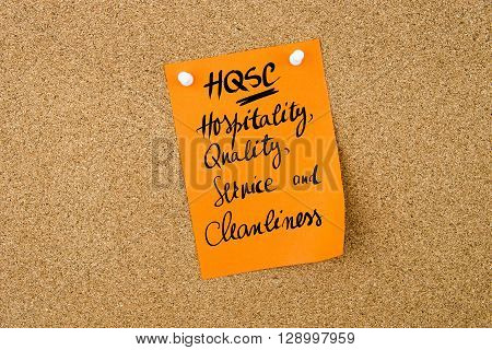 Business Acronym Hqsc Hospitality, Quality, Service And Cleanliness