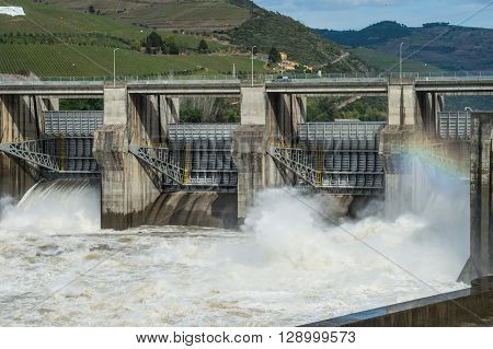 Hydroelectric dam, Electricity, Energy, Douro Valley, Portugal