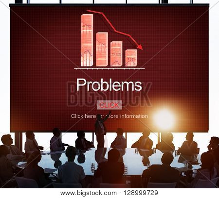 Problems Difficulty Failure Mistake Negative Concept