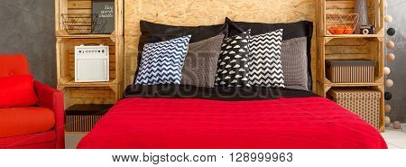 Red Bedroom For Confident People