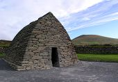 picture of corbel  - the gallarus oratory in county kerry ireland - JPG
