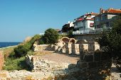 Ruins Of Basilica Of The Holy Mother Of God Eleusa In Old Nesebar, Bulgaria