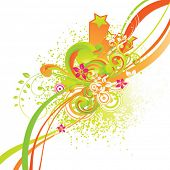 foto of scroll design  - Abstract summer background for design - JPG