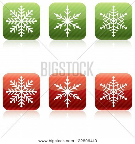 Snowflake Christmas Icons