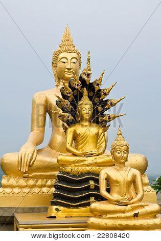 Three Buddha statue