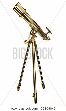 Gold telescope