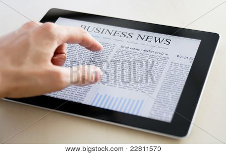 Business-News auf TabletPC