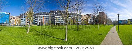área residencial moderna de Amesterdão