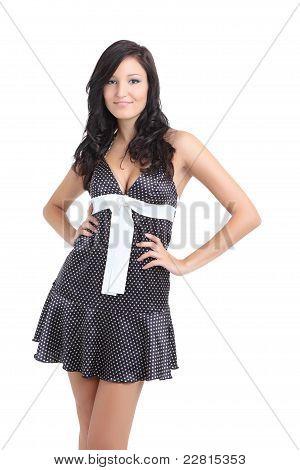 Cute brunette posing