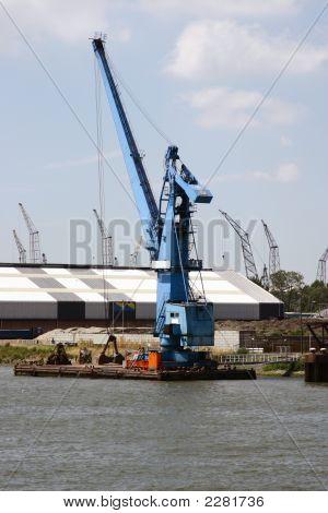 Crane In Rotterdam Harbor