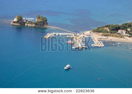 Aerial view on Zakynthos island Greece - Kameo island