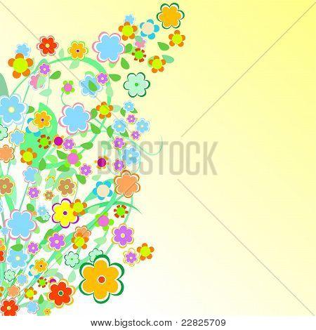 Beautiful Floral Border. Flower design