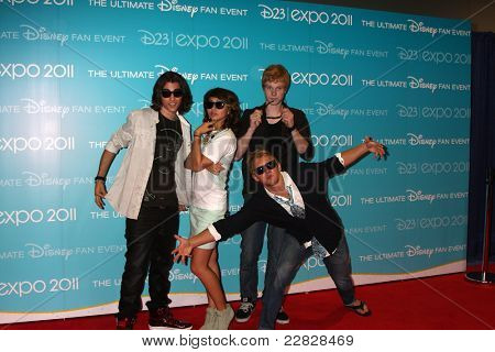 LOS ANGELES - AUG 19:  Blake Michael, Hayley Kiyoko, Adam Hicks, Chris Brochu at the D23 Expo 2011 at the Anaheim Convention Center on August 19, 2011 in Anaheim, CA