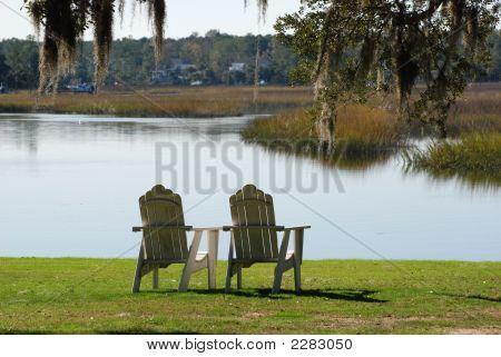 Chairs On Marsh