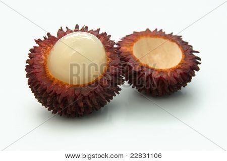 Ripe Rambutan And A Half