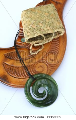 Greenstone Maori Koru Pendant