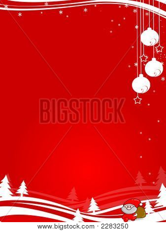 Red Abstract Christmas Design
