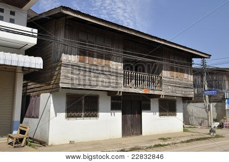 Old Wood House Day Thailand