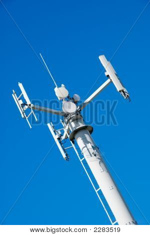 Telecommunications Tower Blue Sky