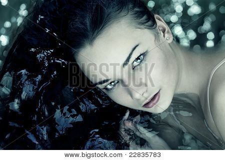 Frau Porträt Wasser