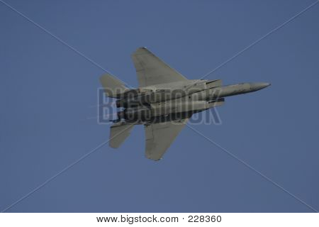 F-15 In Flight From Bottom