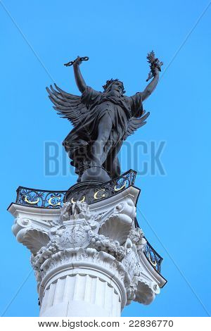 Liberty, Symbol Of France, From Colonnes Des Girondins, Bordeaux, France