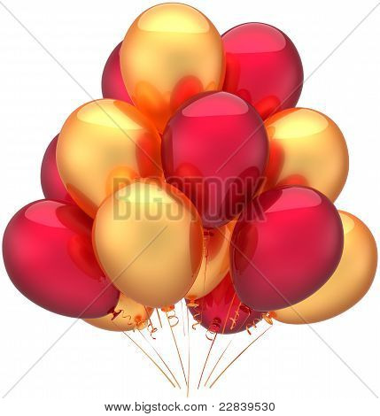 Happy birthday balloons party decoration
