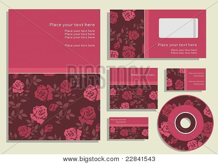 Office elements and accesories. Vector business set of secretarial things and supplies.